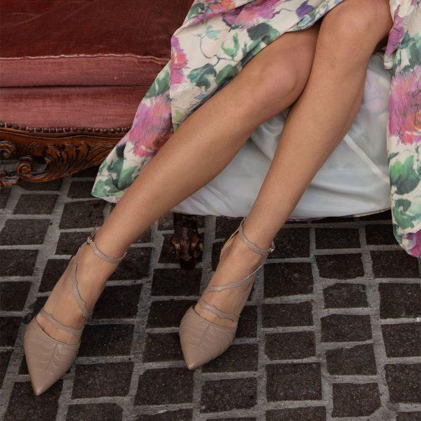 Scarpe con tacco in pelle made in Italy
